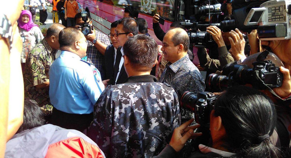Pansus Angket KPK ketika tiba di Lapas Sukamiskin, Bandung. (Liputan6.comArie Nugraha)